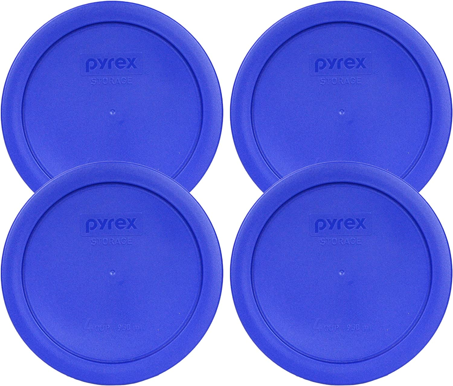 Pyrex 7201-PC Round 4 Cup Storage Lid for Glass Bowls (4, Light Blue)