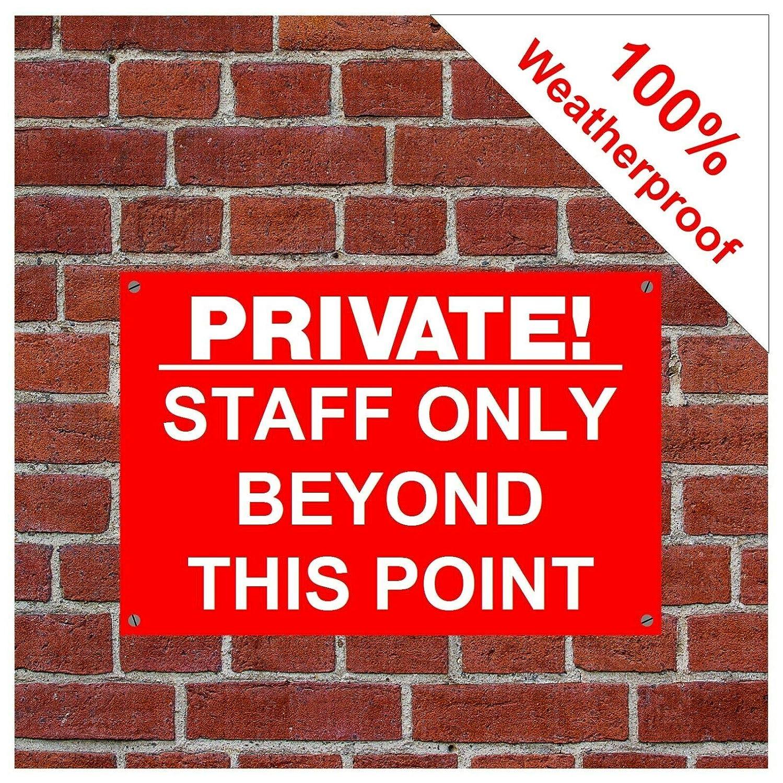 Private! Signo 9052 con texto en inglés