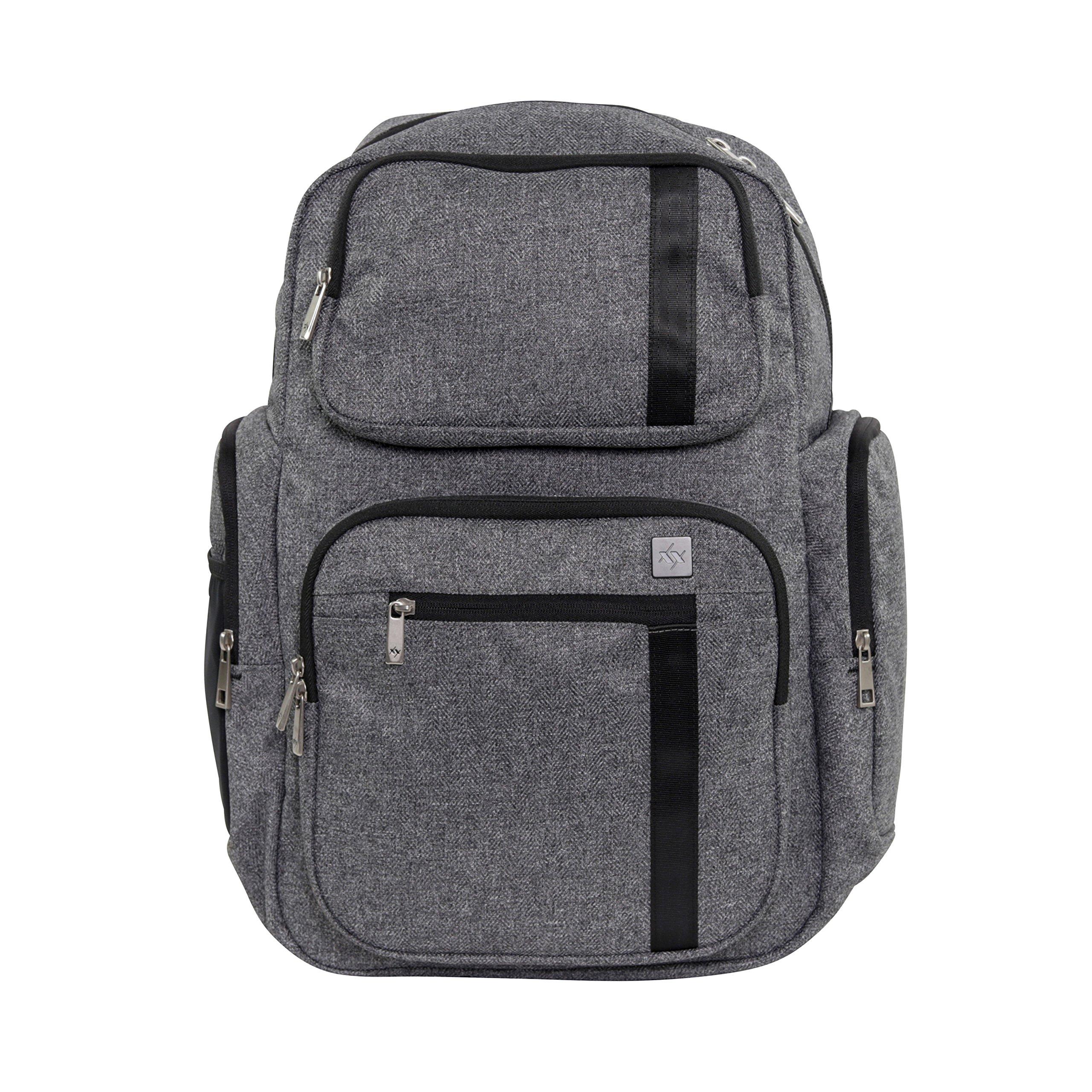 Ju-Ju-Be XY Collection Vector Backpack Diaper Bag, Gray Matter
