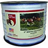 "Field Guardian 2"" White Polytape Classic for electric fence"