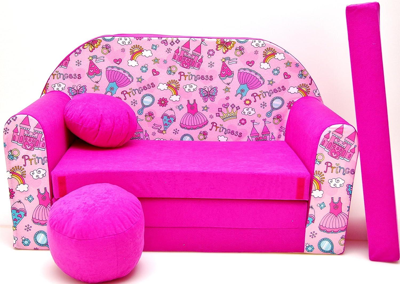 Bar Dormir emergente H35Niños sofá sofá sofá Mini sofá 3en 1Baby Set +–Sillón infantil y asiento cojín + colchón barabike SOF063