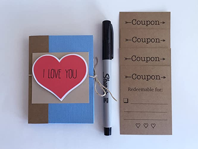 coupon book i love you because book pocket book boyfriend gift gift
