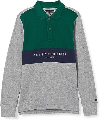 Tommy Hilfiger Bold Colorblock Polo L/S Camisa para Hombre