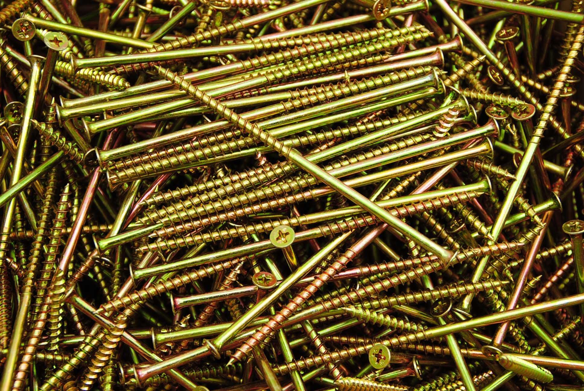 (500) Phillips Bugle Head 10 x 5 Coarse Drywall Wood Screw - Yellow Zinc Bulk