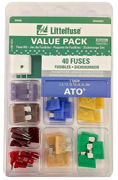 Littelfuse 00940400Z ATO Blade Fuse Super Value Pack - 40 Piece