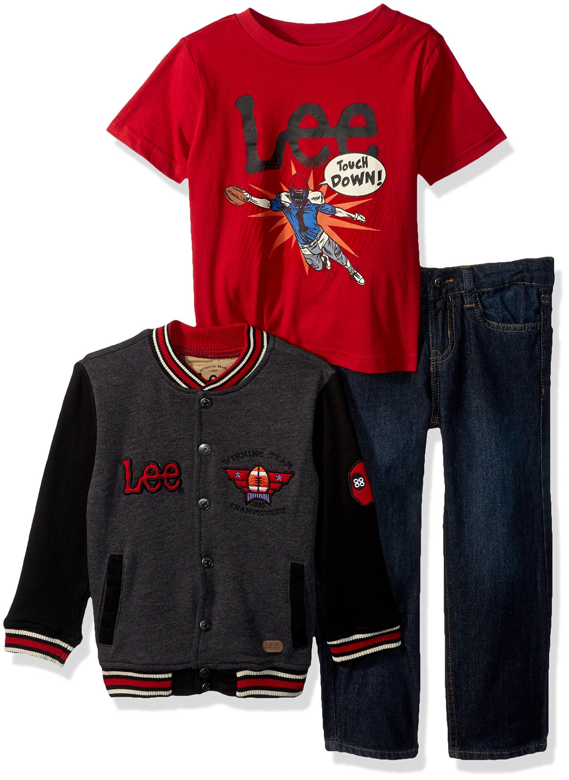 LEE Boys' Little Pants, Tee, Jacket Set, Touch Down