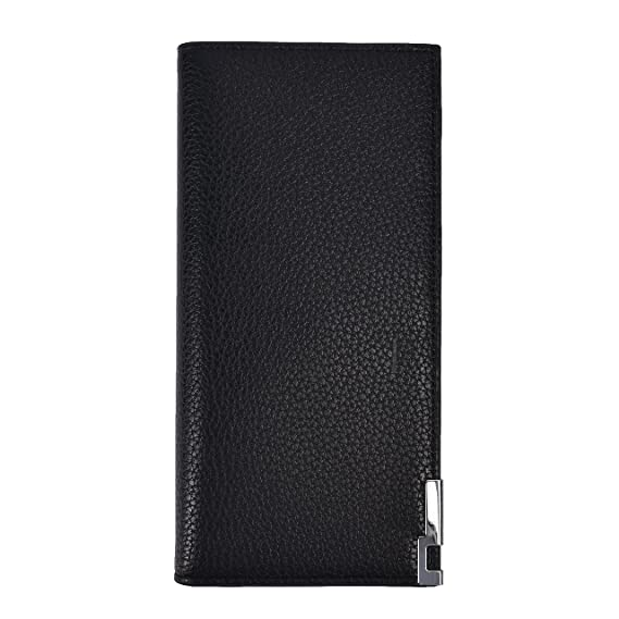 4faa4374c41 Mens Bifold Wallets RFID Slim Mens Long Wallets (Black) at Amazon Men's  Clothing store: