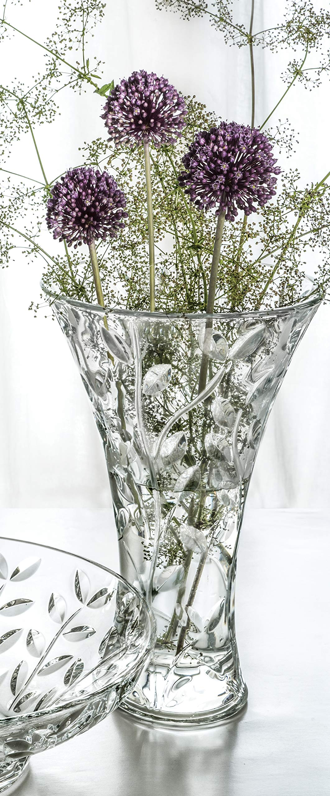 RCR Crystal ''LAURUS'' Vase 11'' - Made in Italy by RCR by Lorren Home Trends