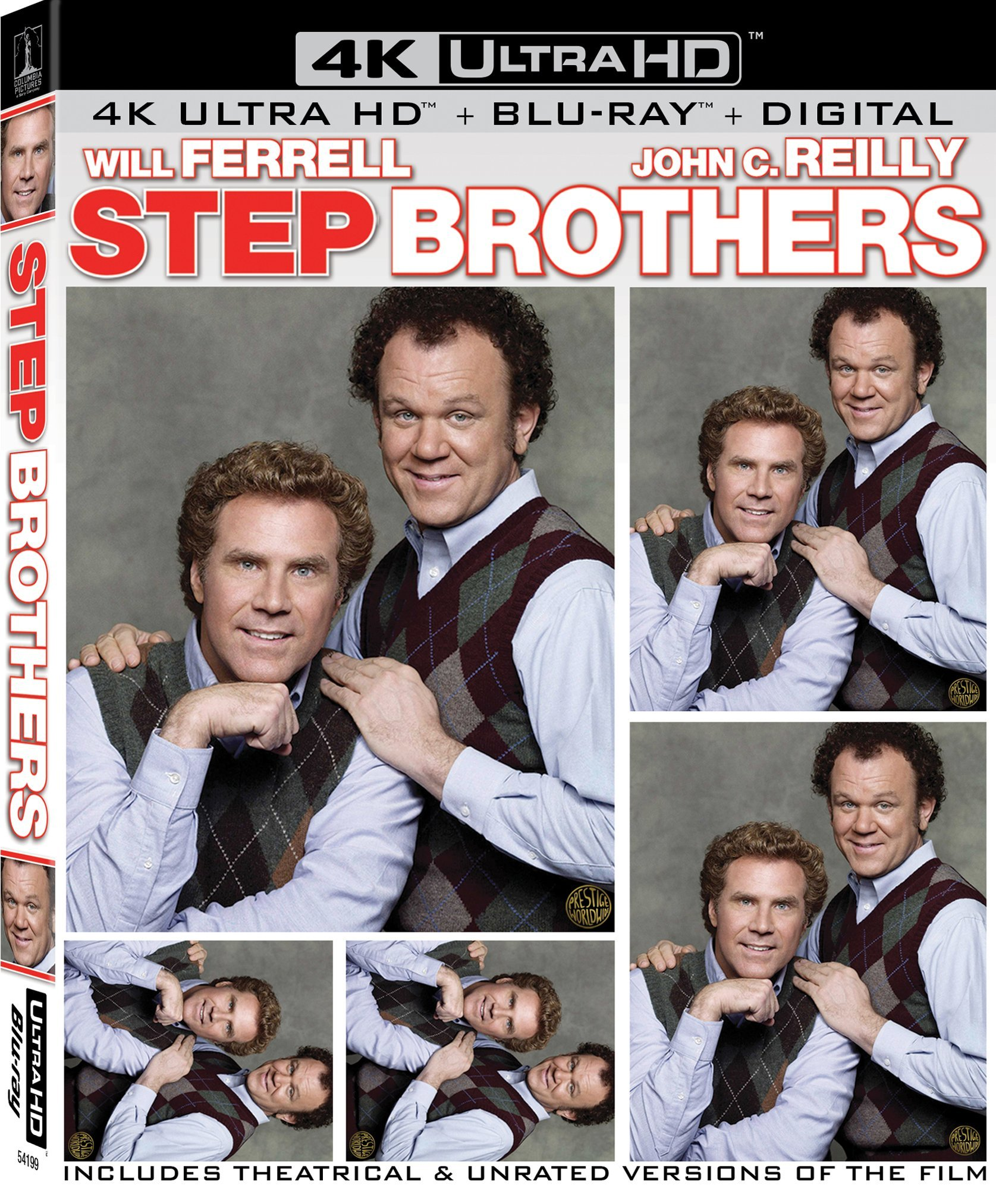 4K Blu-ray : Step Brothers (With Blu-ray, 4K Mastering, Unrated Version, Digital Copy, 3 Pack)
