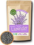 Lavender Flowers | 4 oz Reseable Bag ,Bulk | Dried Culinary Lavender Buds , Herbal Tea | Relaxing ,Sleep Well | Aromatherapy, Crafts Potpourri ,Home Fragrance by Eat Well Premium Foods