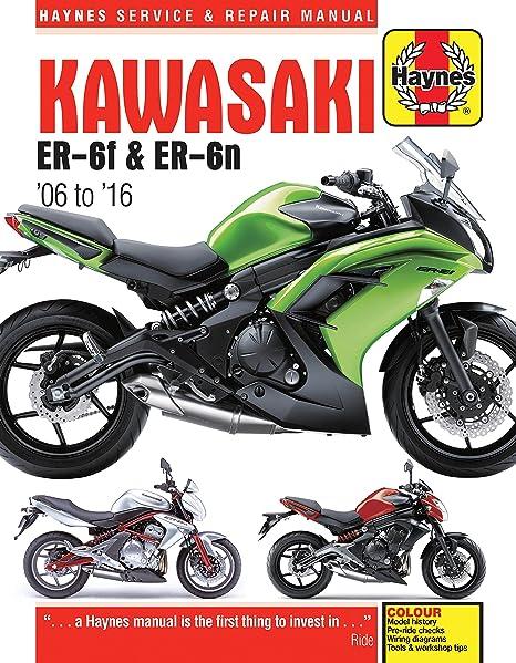 amazon com: 2006-2016 kawasaki ninja ex er 650 650r er6 er6n haynes repair  manual: automotive