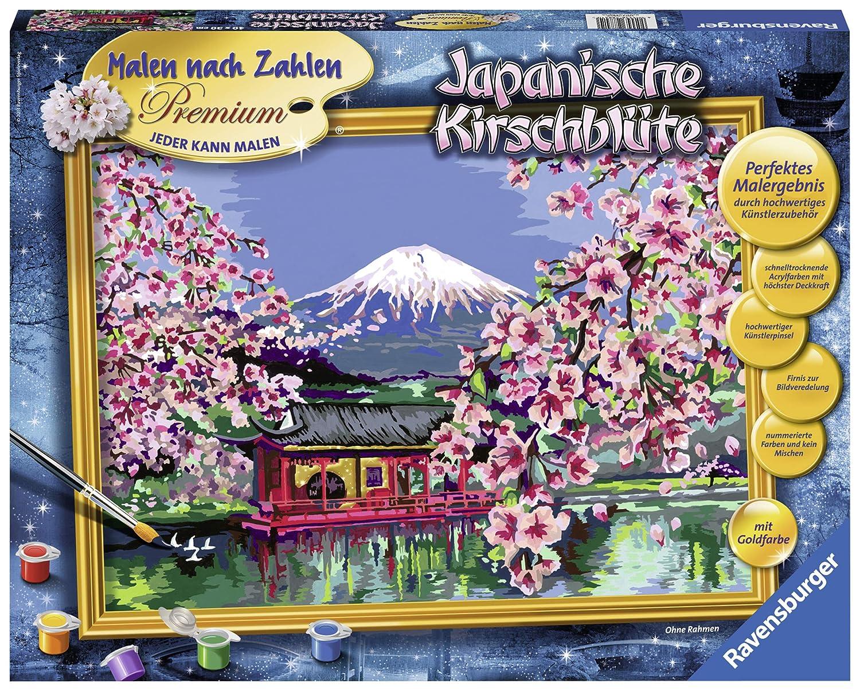 Ravensburger 28841 Japanische Kirschblüte Malen Nach Zahlen Premium 40 X 30 Cm