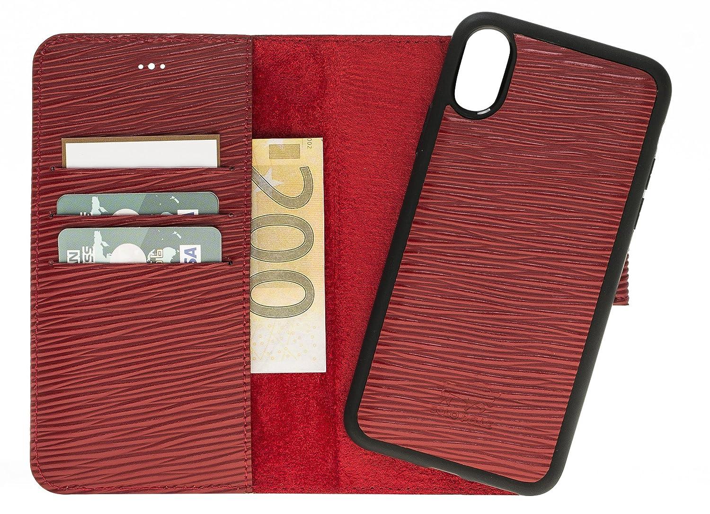 Solo Pelle iPhone Xリムーバブルレザーケース(2in1) Epi redのオリジナルiPhone X用カードスロット   B079131HSJ