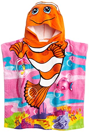 Amazoncom Northpoint Cute Clownfish Kids Hooded Beach Towel Home