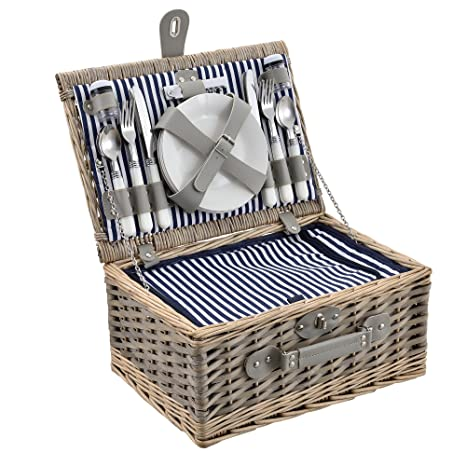 [casa.pro] Cesta de pícnic para 4 Personas - Set de pícnic con
