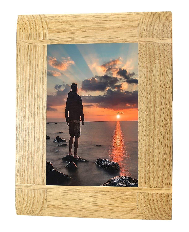 Amazon.de: Holz-Intarsien Eiche Bilderrahmen Fotorahmen - Portrait ...