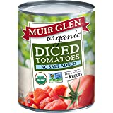 Muir Glen Organic No Salt Added Diced Tomatoes 28 oz. Can (Pack of 12)