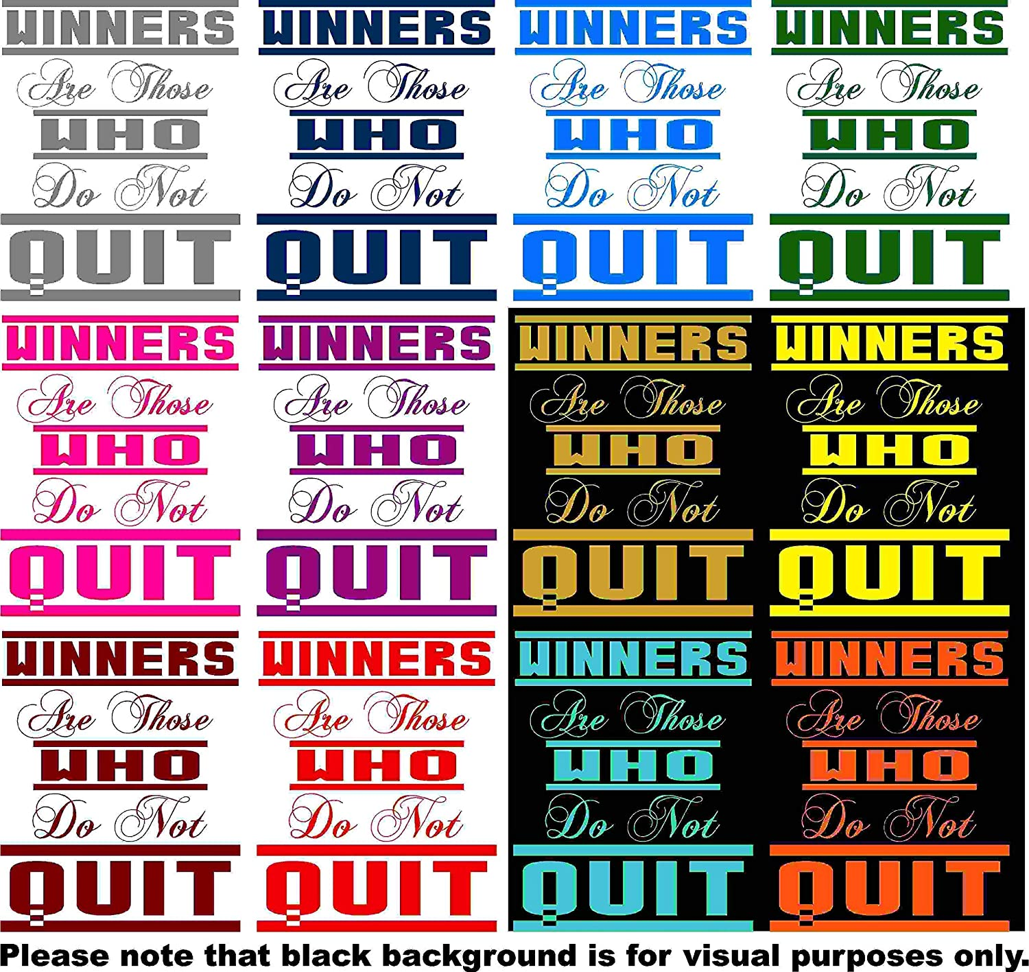 Choose Color V and T Gifts Winners are Those who do not Quit