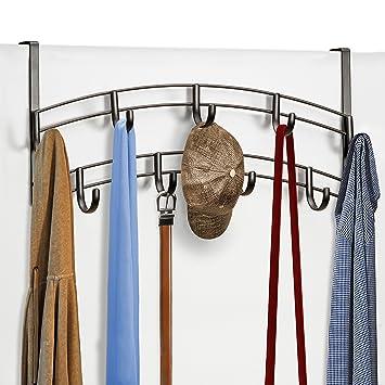 Amazon.com: Lynk 9 ganchos para encima de la puerta, platino ...