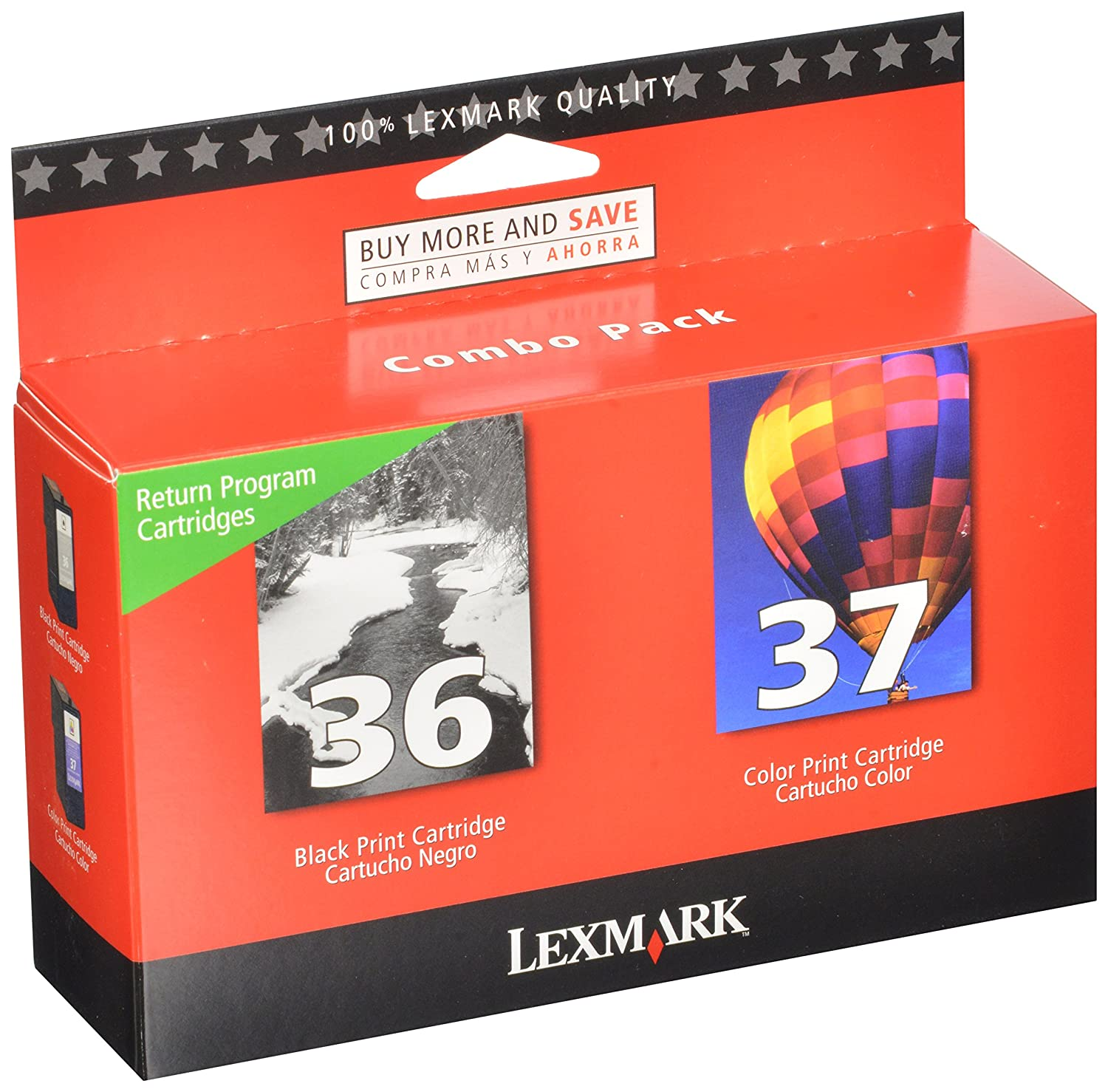 Amazon Lexmark Twin Pack Ink Cartridges Office Products
