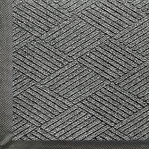 WaterHog Eco Commercial-Grade Entrance Mat, Indoor/Outdoor Black Smoke Floor Mat 6' Length x 4' Width, Grey Ash by M+A Matting