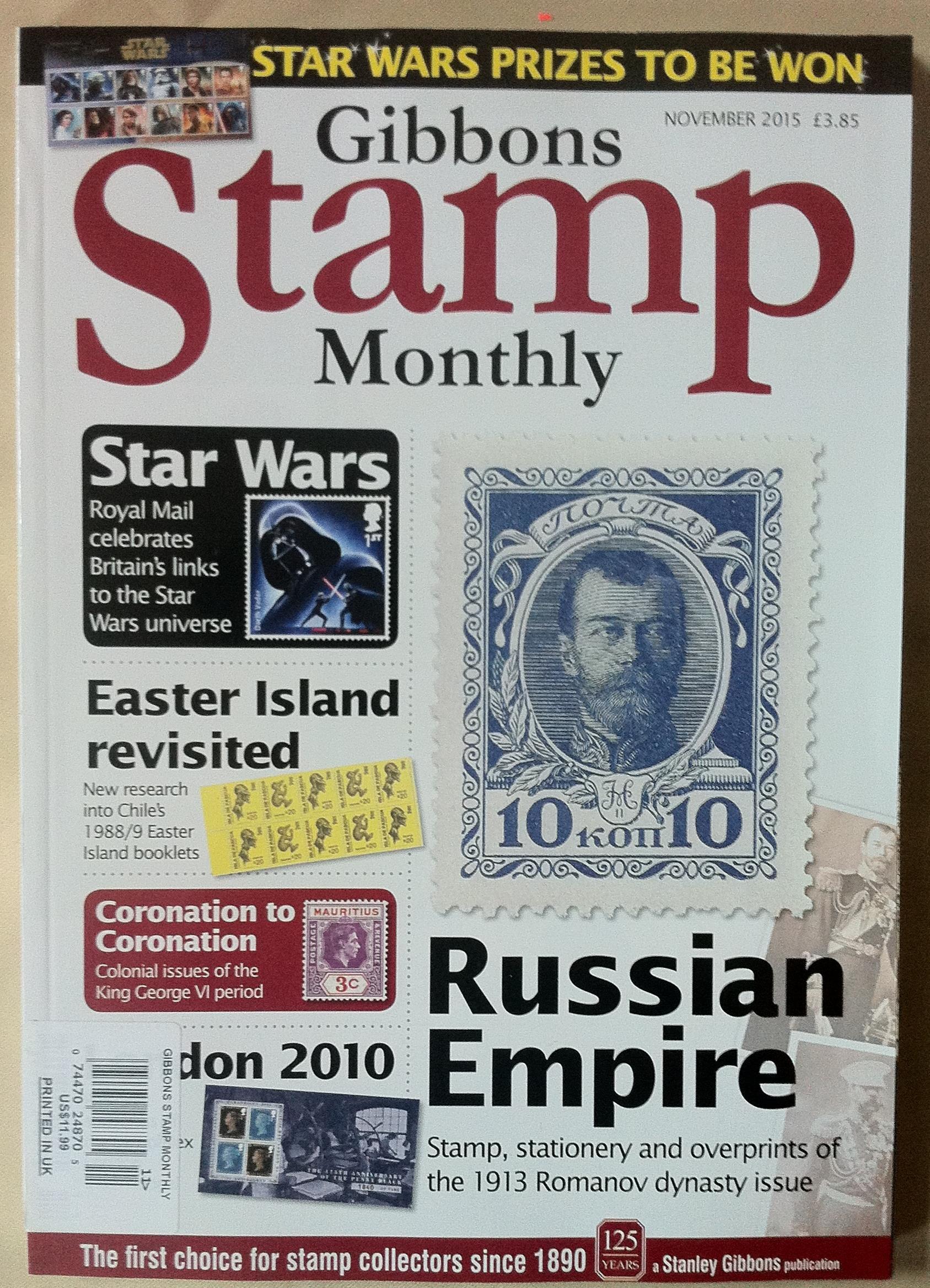 Gibbons Stamp Monthly November 2015 - Star Wars - Easter