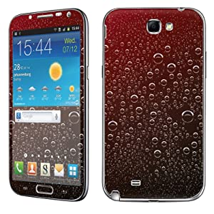 Samsung [Galaxy Note 2] Skin [NakedShield] Scratch Guard Vinyl Skin Decal [Full Body Edge] [Matching WallPaper] - [Red Rain Drop] for Samsung Galaxy [Note 2]