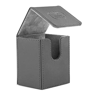 Ultimate Guard 100 Card Flip Xenoskin Deck Case, Grey: Toys & Games