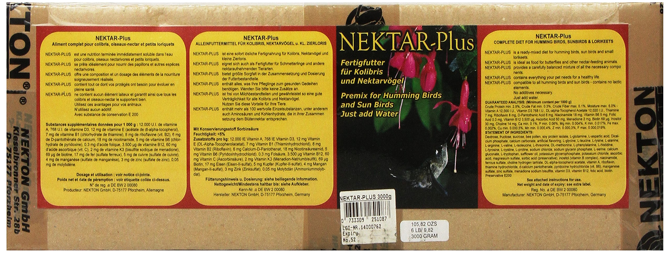 Nekton Nektar-Plus Nectar Concentrate for Lories and Hummers, 3000gm by Nekton