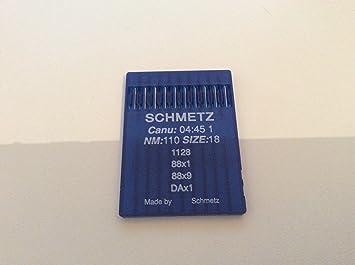 Agujas 88X1 Schmetz (modelo Canu 04:45) con tamaño de 110/18, para las máquinas de coser industriales Singer 95 K y 195 K: Amazon.es: Hogar