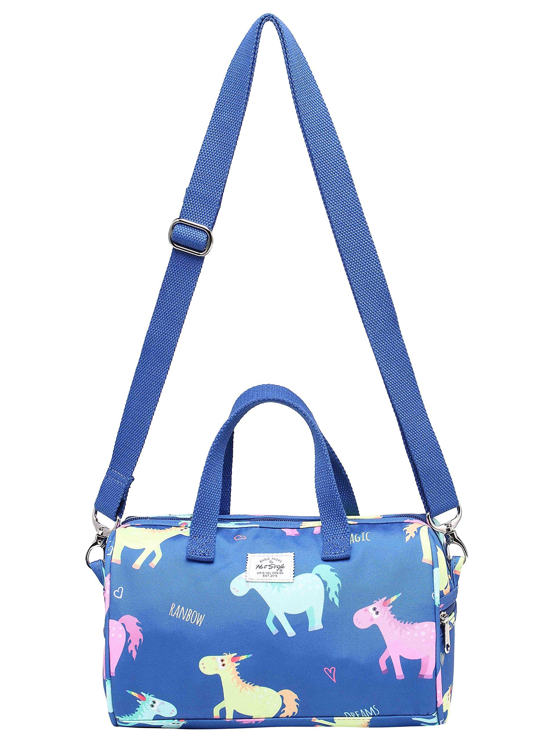 MIETTE Girls Mini Crossbody Shoulder Bag Small Handbag | 9.4''x6.2''x4.7'' | Unicorns, Blue