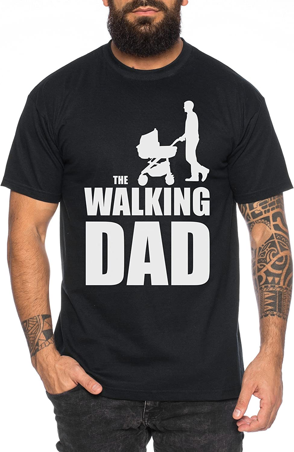 The Walking Dad Camiseta de Hombre Nerd Dead