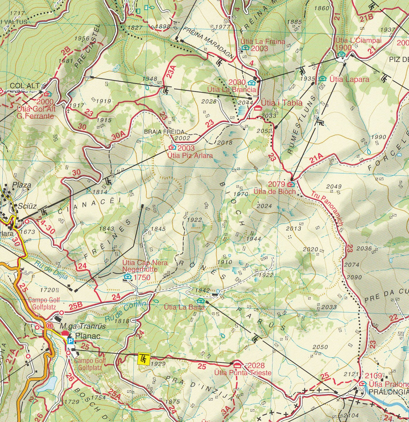 07 Alta Badia Arabba Marmolada 125000 topographic hiking