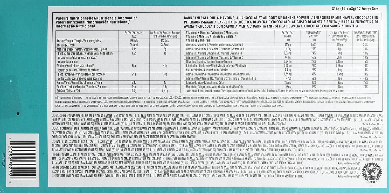 Barrita energética de avena con menta y chocolate - CLIF - caja de 12 uds de 68 gr. (Total: 816 gr.): Amazon.es: Alimentación y bebidas
