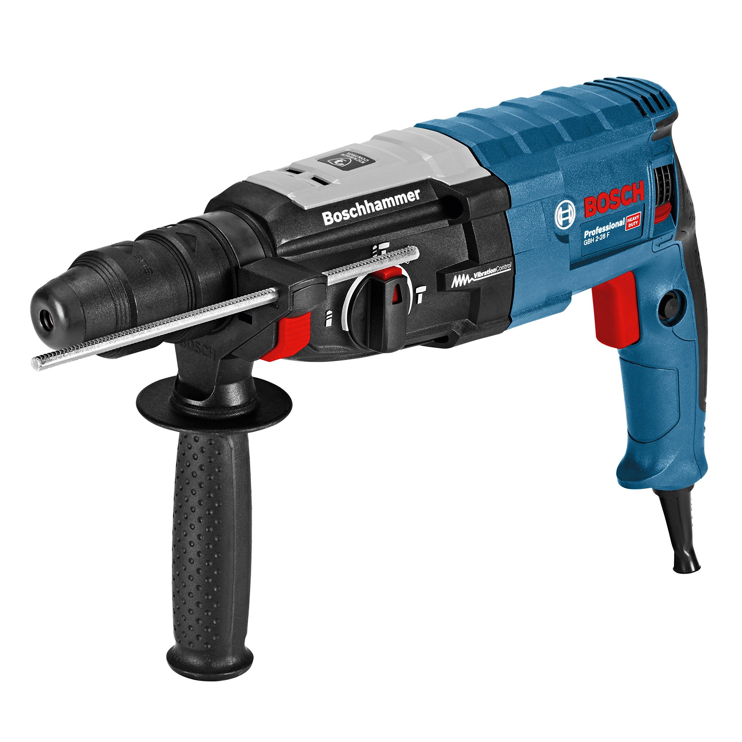 Bosch Professional 0611267600 GBH 2-28 F Martello Perforatore, SDS-Plus, Mandrino Auto-Serrante 13 mm, 880 W, Foro Calcestruzzo 28 mm, Valigetta, 230 V, Nero, Watt product image