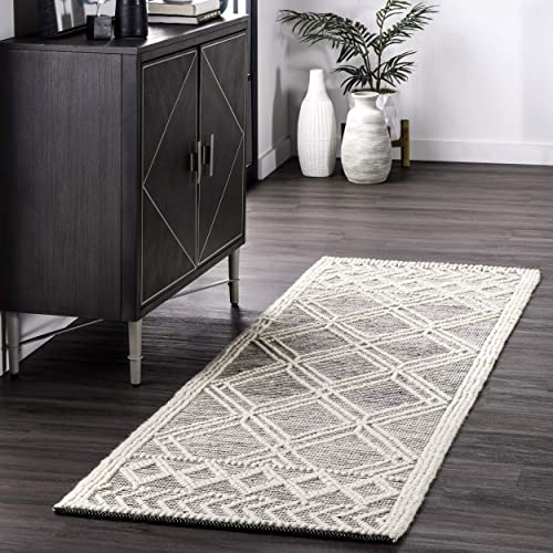 nuLOOM Natti Contemporary Trellis Wool Runner Rug