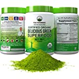 Peak Performance Organic Greens Superfood Powder. Best Tasting Organic Green Juice Vegan Super Food with 25+ All Natural…