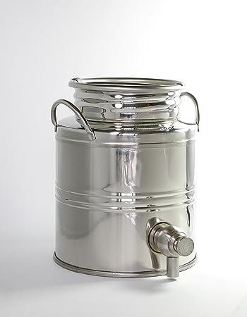 olio mediterraneo - edelstahlbehälter für olivenöl - mit zapfhahn ... - Edelstahlbehälter Küche