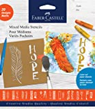 Faber-Castell Mixed Media Stencils - Faith - 20 Paper Stencil Designs
