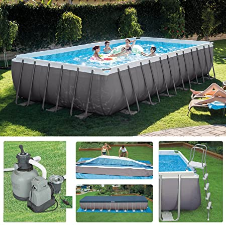 Oferta piscina Intex 28362 ultraframe 732 x 366 x 132 cm + Robot Limpieza + skimmer: Amazon.es: Jardín