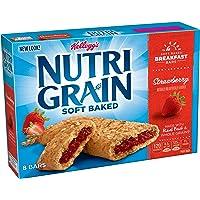 Kellogg's Nutri-Grain Cereal Bars (Strawberry, 8-Count Bars, 10.4 oz, Pack of 6)