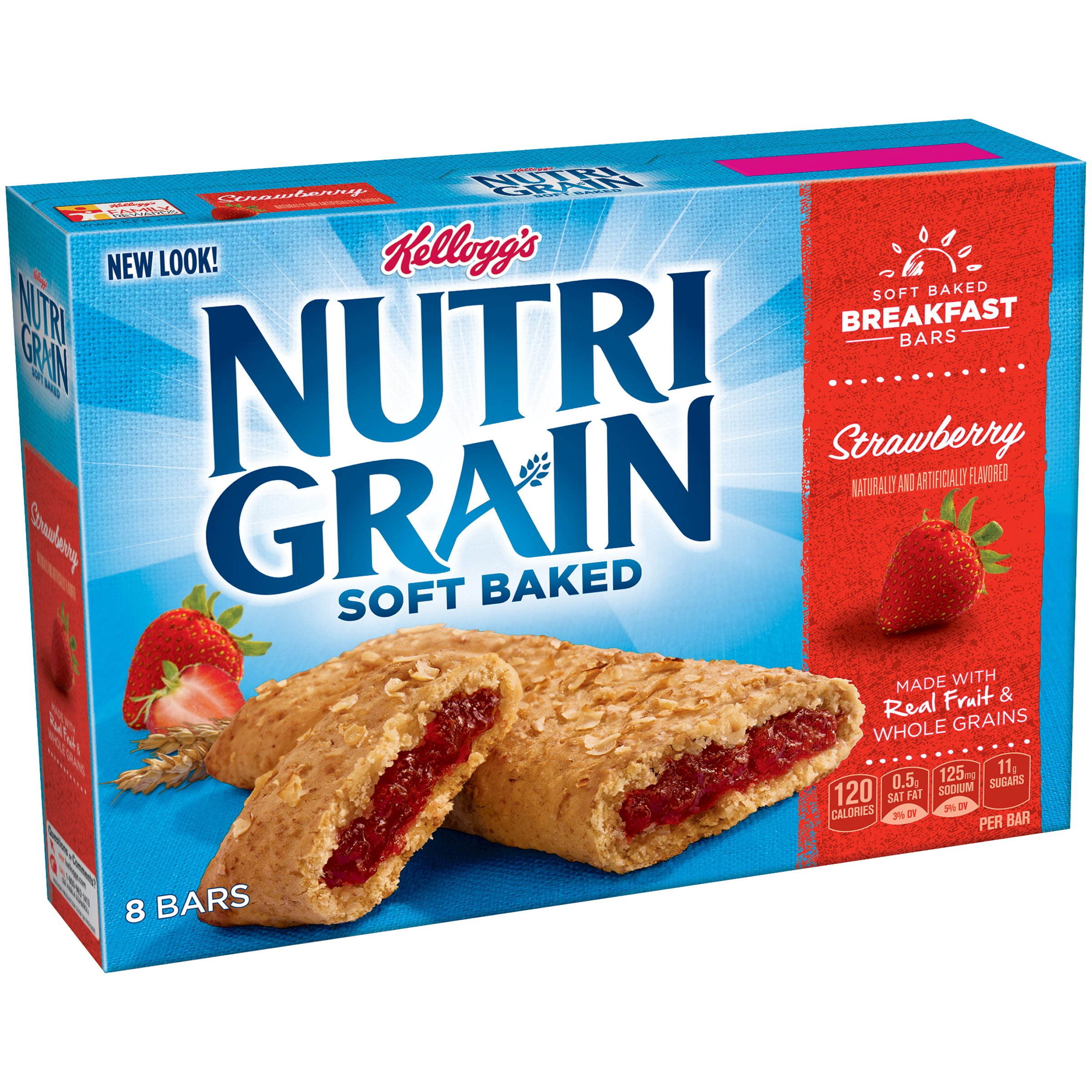 Kellogg's Nutri-Grain Cereal Bars (Strawberry, 8-Count Bars, 10.4 oz, Pack of 6) by Nutri-Grain