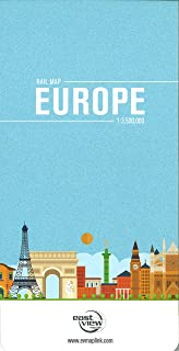 Rail Map of Europe Map Link 9780929591704 Amazoncom Books
