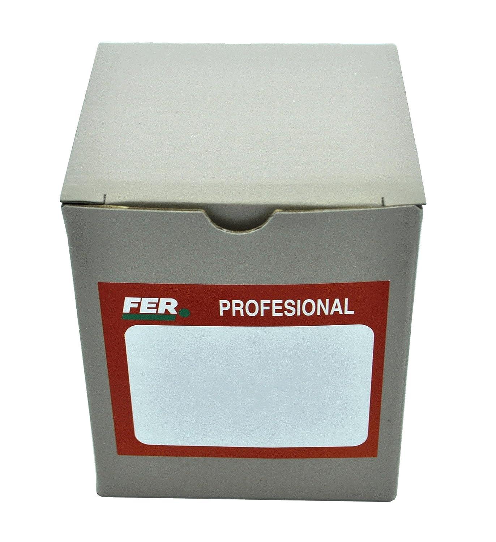 FER 52365 Caja Profesional Cart/ón Punta de Acero Cabeza C/ónica Latonado 2 x 50 mm
