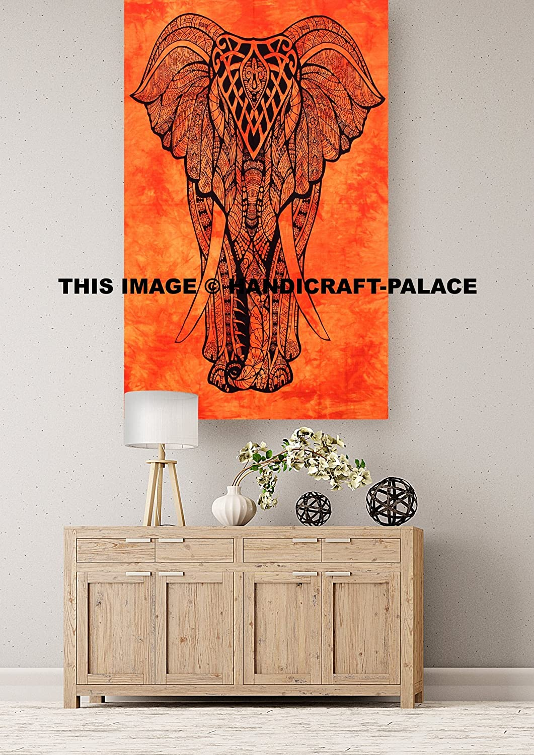 HANDICRAFT-PALACE Tapestries Elephant Indian Yoga Posters Tapestry Wall Hanging Indian Yoga Mat Beach Throw Wall Decor (42
