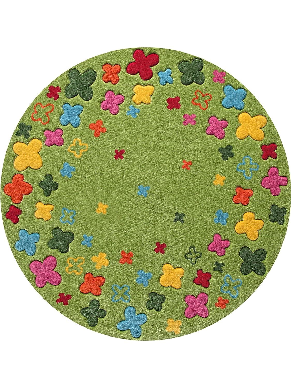 ESPRIT Bloom Field Moderner Markenteppich, Acryl, Grün, 100 x 100 x 1 cm
