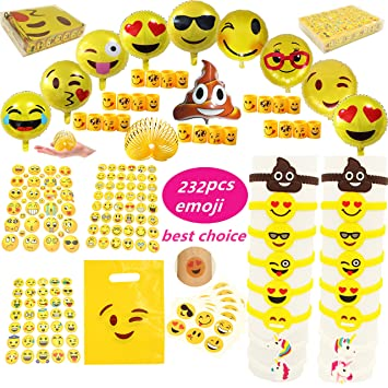 emoji party favors supplies faces jumbo pack coil springs slinkies balloons