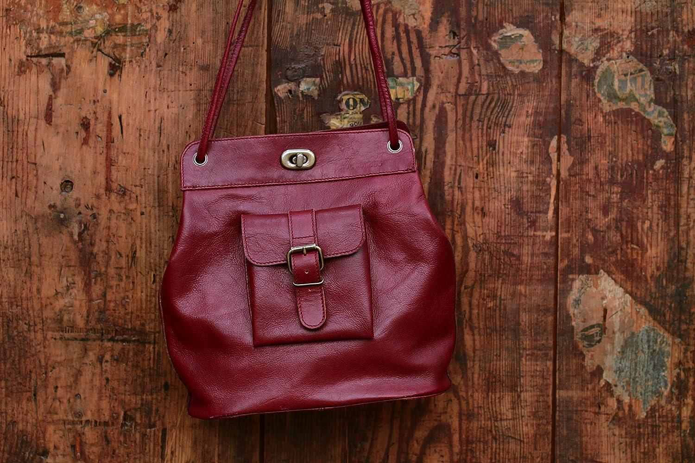 LE 1950 Bordeaux sac vintage en cuir inspiré des années 50 multi-positions PAUL MARIUS MhSRFx6F