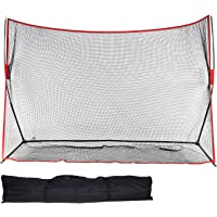DACTECH 10 x 7 ft Portable Golf Practice Barrier Net - with Carry Bag & 4 Stakes - for Outdoor and Indoor Use - Garage Patio Backyard Training- Foldable Back Stop