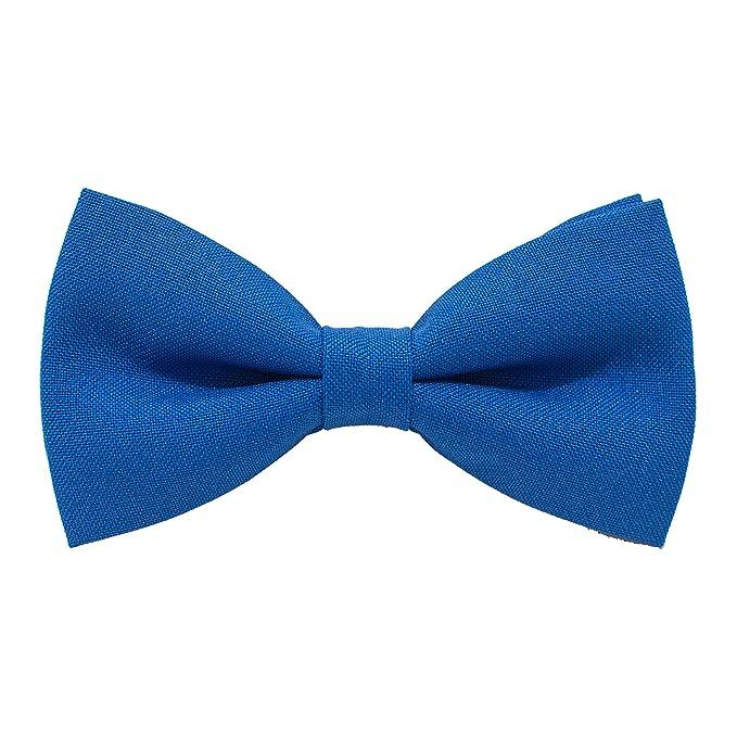Electric Blue Boys Regular Tie Satin Plain Solid Wedding Kids Necktie by DQT